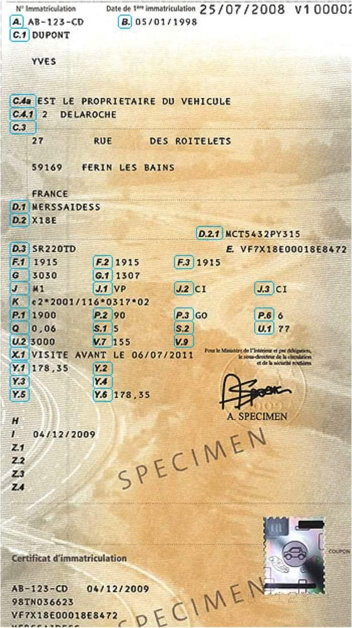 certificat d'immatriculation    carte-grise-fiscalite