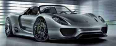 Porsche électrique hybride 918 Spyder plug-in