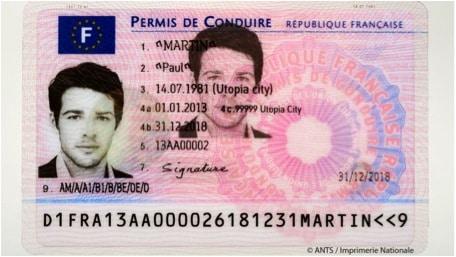 Le permis de conduire 2013 format d'une carte de crédit