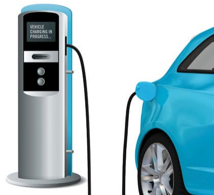 Borne pour véhicules électriques