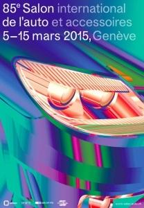 Affiche du salon de l'auto 2015 Genève.