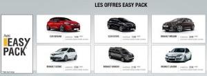 Les offres easy pack de chez Renault